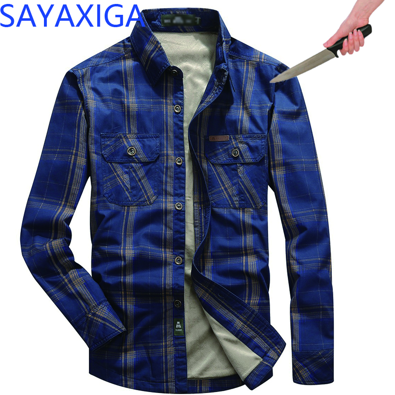 Men Cutfree Stabfree Shirt Protection Self Defense Shirts Stab-resistant Plaid Shirt Invisible Anti-cut Anti Stab Swat Blouse
