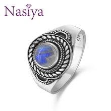 Женское Винтажное кольцо из серебра 925 пробы с лунным камнем
