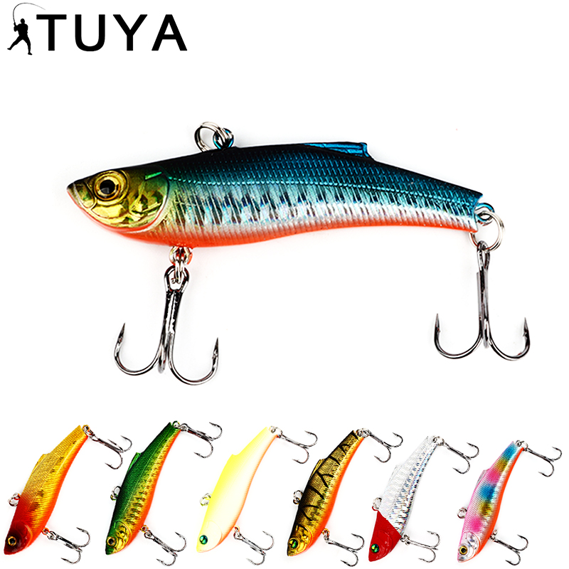 TUYA 1pcs Sinking VIB Fishing Lure Minnow artifici...