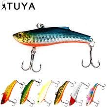 Купить с кэшбэком 1pc 7.3cm 18.95g Wobbler Fishing Lure Minnow Bass Lifelike Bionic VIB Lure 6# Owner Hooks peche isca artificial 37#