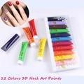 Free Shipping 12 Colors OUMAXI acrylic Paint Nail Art Polish 3D Paint Decor Design Tips Tube Tools Nails Decorations  #WJ003