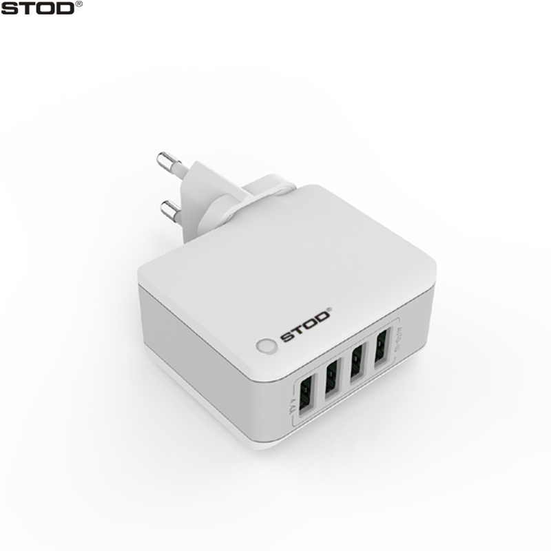 STOD Multi Port Travel Charger 4 USB 22W 4.4A Pengisian Cepat Untuk - Aksesori dan suku cadang ponsel - Foto 1