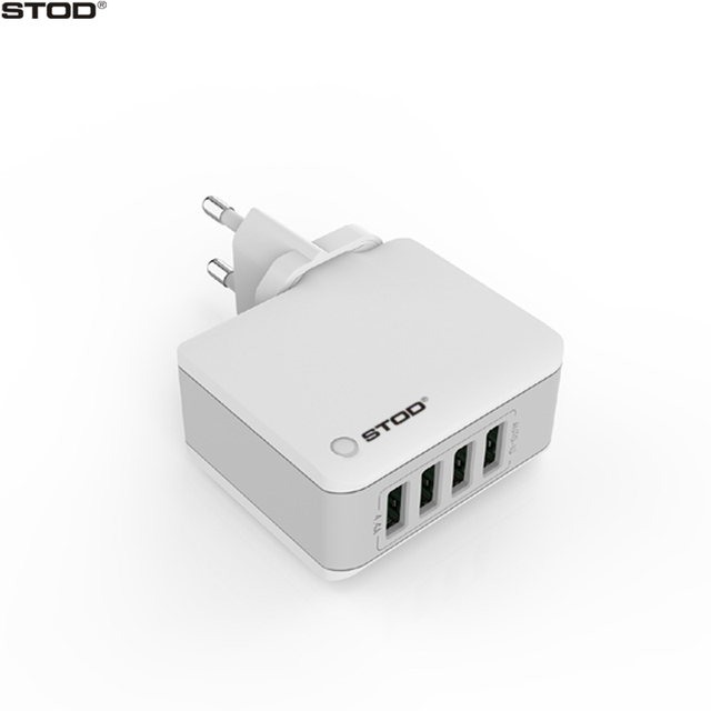 STOD Multi Port Travel Charger 4 USB 22W 4.4A Fast Charging For iPhone iPad Mini Samsung Huawei Phone Charge AC Wall Adapter
