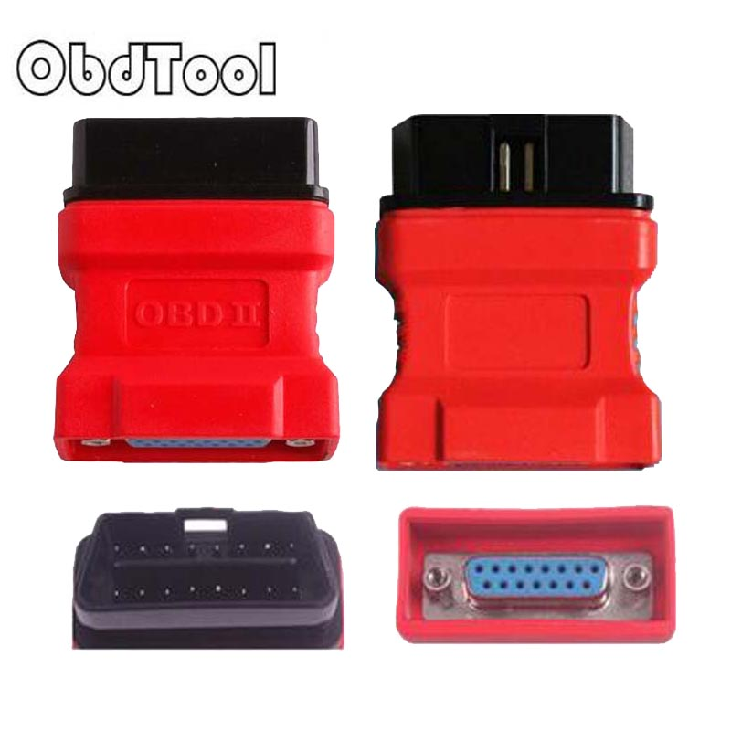 OBDTOOL 15% OFF Red Diagnostic Tool OBD 16 Pin Adaptor for DS708 OBD 16 PIN Connect Code Reader 1Pcs