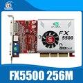 Nvidia chipset placa de vídeo placas gráficas agp fx5500 256 mb ddr 128bit