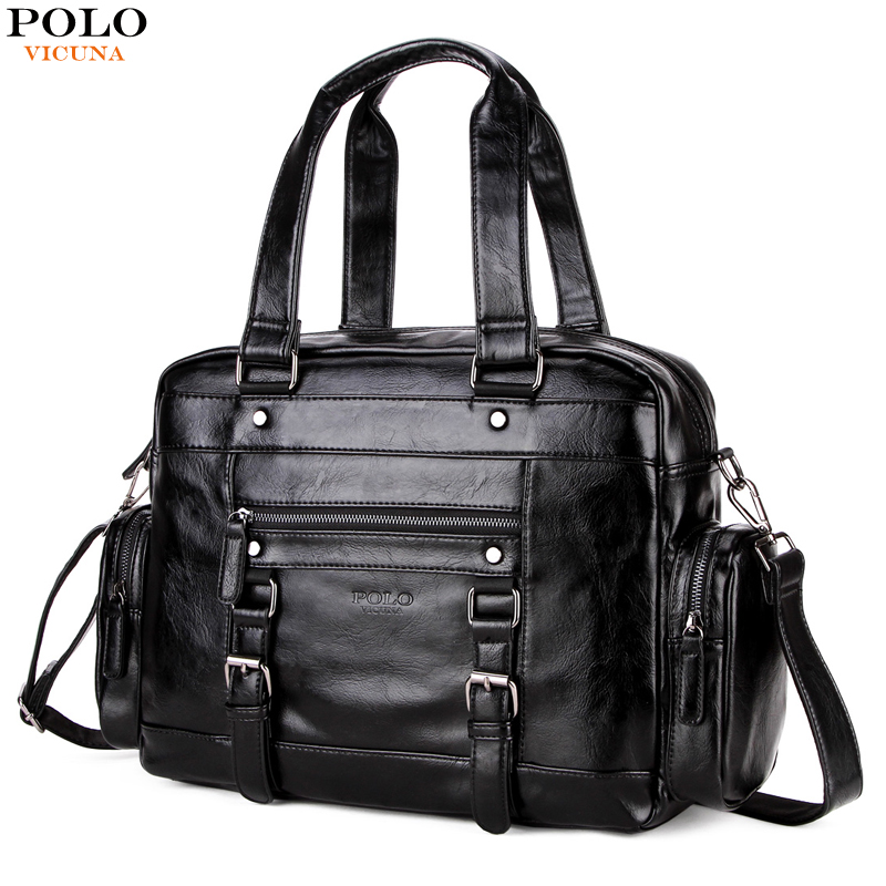 VICUNA POLO Leather Men Travel Bag High Quality Hand Luggage Casual Shoulder Bag Men's Duffel Bags Large Capacity Travel Bags hot new 2014 high quality double shoulder backpack men and women s brand travel bag large capacity duffel bag 3 size 4 colors page 6