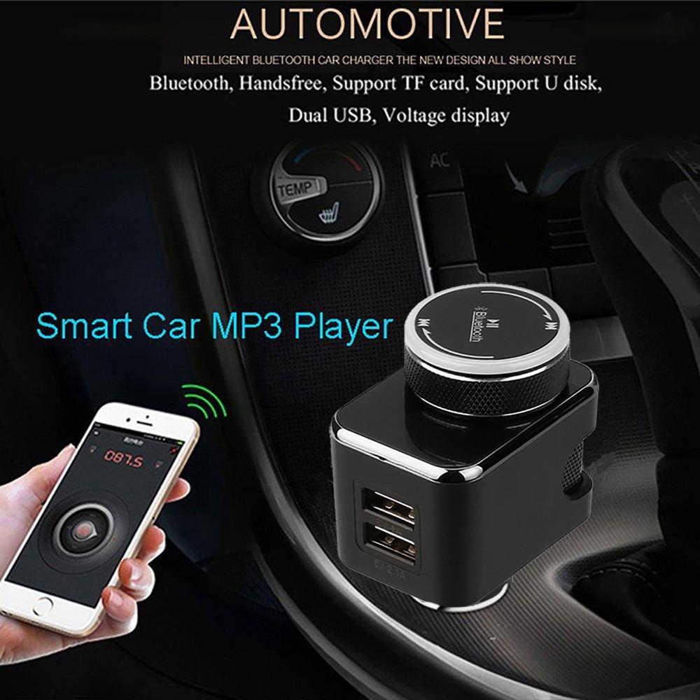 willtoo Universal ABS Dual USB Wireless Car Bluetooth Kit FM Transmitter Handsfree Call USB Car Charger reading USB files BT8830