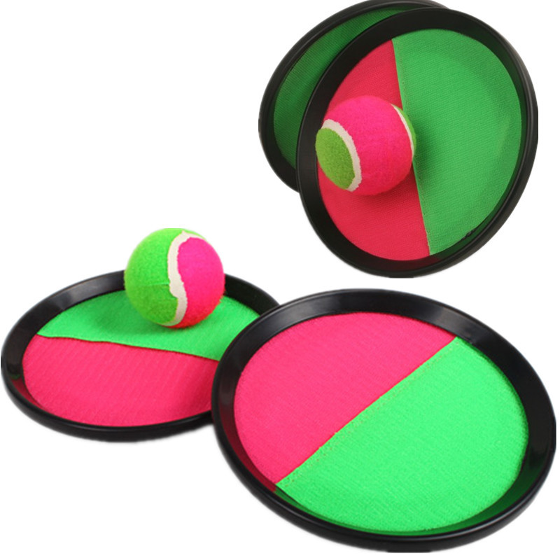Children Outdoor Sport Toys Throw Catch Ball Game Sucker Disc Ball Fun Sports Toy Baby Activity Toys Kids Family Game XQ105