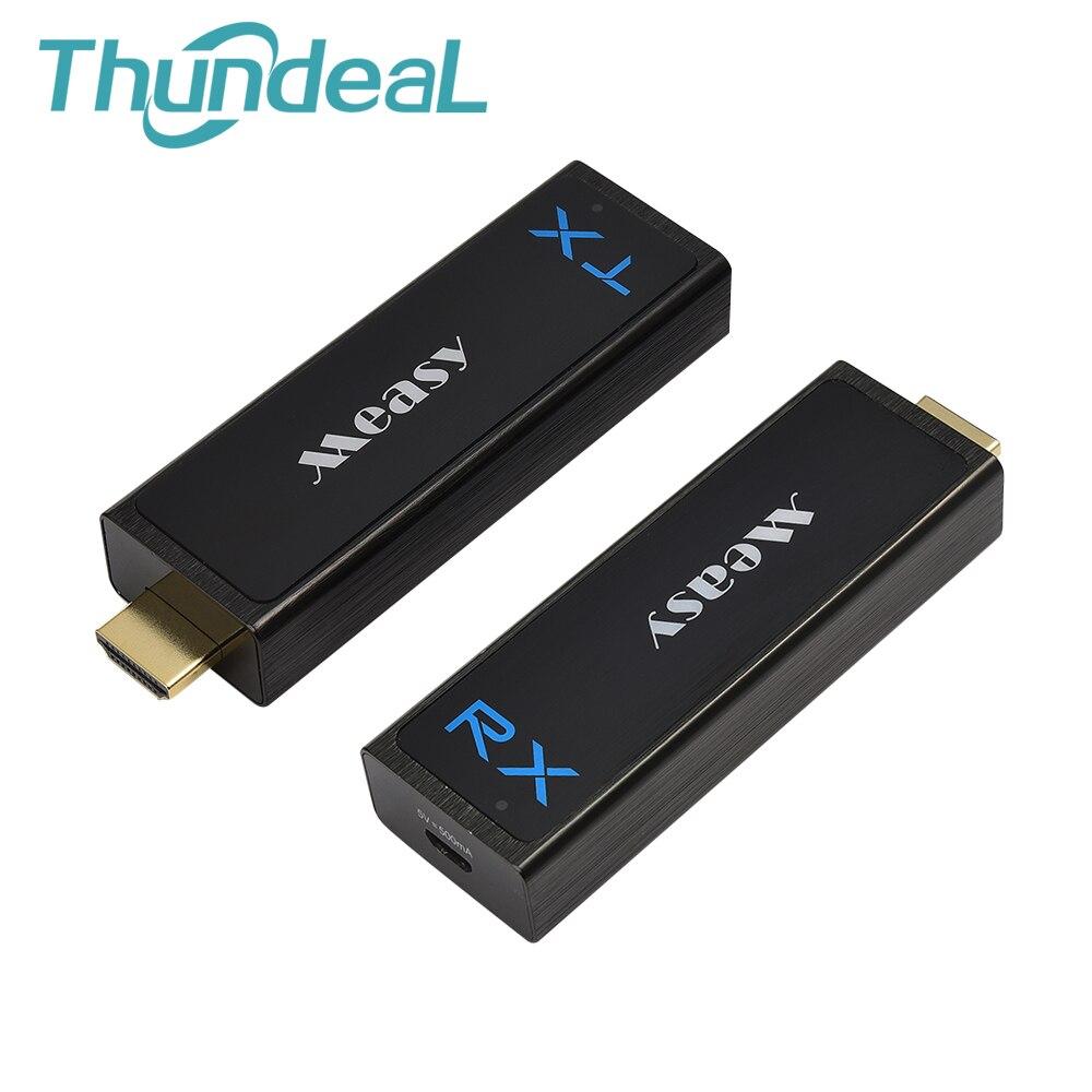 W2H Nano Wireless HDMI Extender 1080 p 3D 7.1 HD Audio Video di Alluminio HDMI Estendere Mittente 30 m 100FT Senza Fili trasmettitore Ricevitore
