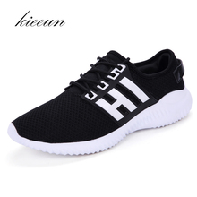 KIEEUN New lightweight breathable Men's Running shoes Sports Outdoor Sneakers Men shoes For Best Trends Run Athletic size 39-45