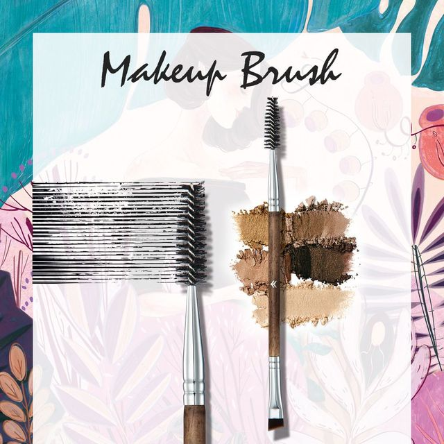 1PC New Pro 2 In 1 Angled Eyebrow Beauty Cosmetic Mascara Curl Tools Brush+Eyebrow Double-Headed Eyeliner Eyelash Comb Makeup Makeup Brushes