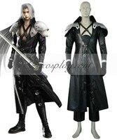 Final fantasy vii 7 sephiroth deluxe cosplay costume e001