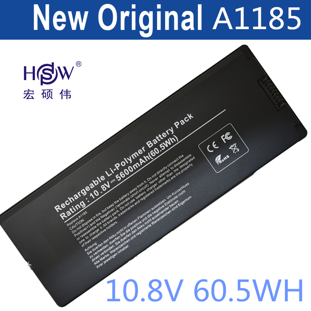 "HSW Battery for Apple MacBook 13"" A1185 Battery,notebook battery for A1185, A1181  MA561  MA254 MA255 MA699 MB061X/A  bateria"