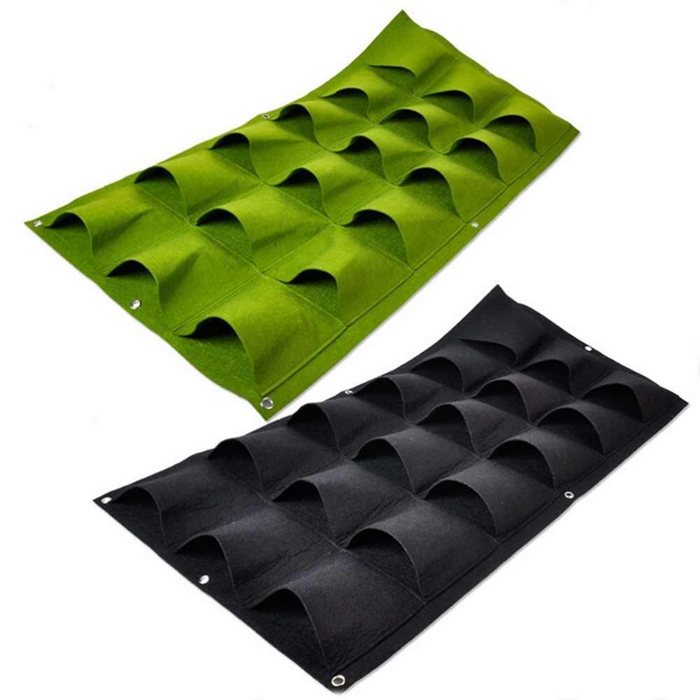 Articoli per la casa 1PCS Verde Coltiva il Sacchetto Borse di Impianto Wall Hanging Planter Vertical Garden 18 Tasche Verdura Living Garden Bag