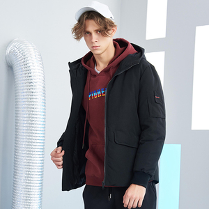 Image 3 - Pioneer camp new short winter parkas men brand clothing fashion hooded warm coat thick quality coat parkas male red AMF801485