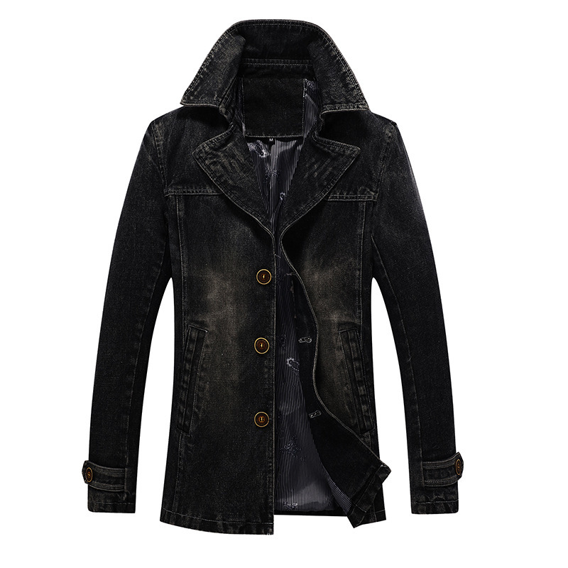 Autumn Jacket Men Trench Coat Men Windbreaker Sing