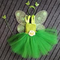 Princess Tutu Tinkerbell Tutu Dress Outfit Birthday Costume Special Occasion Green Fairy Princess Tutu Photo Shoot