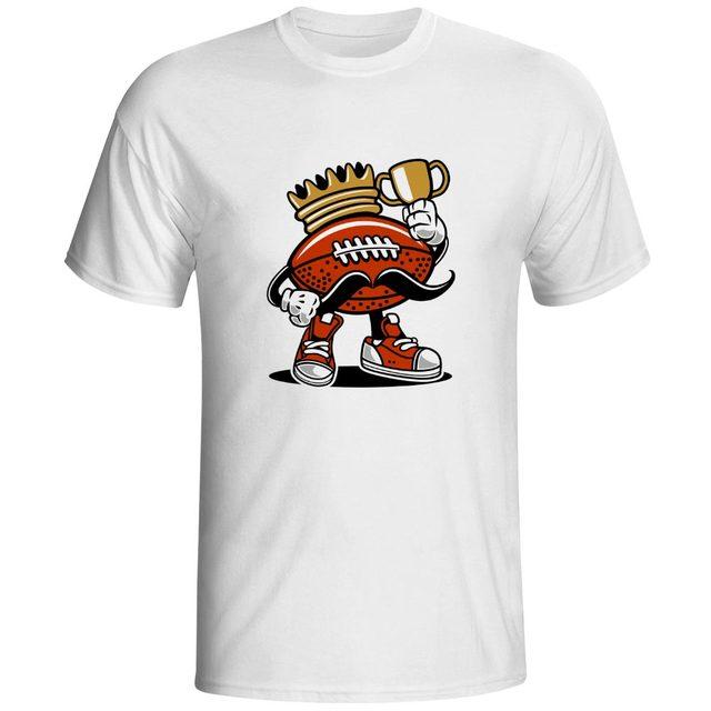 74f73211 Fu'n'n'y Champion T Shirt King Of American Foot Game Brand Cool Style T-shirt  Pop Design Print Unisex Tee
