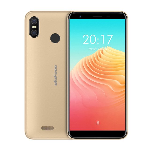 Ulefone S9 Pro 5.5 inch HD+ Mobile Phone 2GB RAM 16GB ROM Android 8.1 MTK6739 Quad Core 13MP+5MP Dual Rear Cameras 4G Cellphone