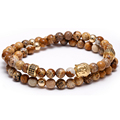 2016 Hot Sale Handmade Bracelet Atolyewolf Jewelry Gold Buddha Charm Natural stone Beads Adjustable Female Bracelet  AA161061