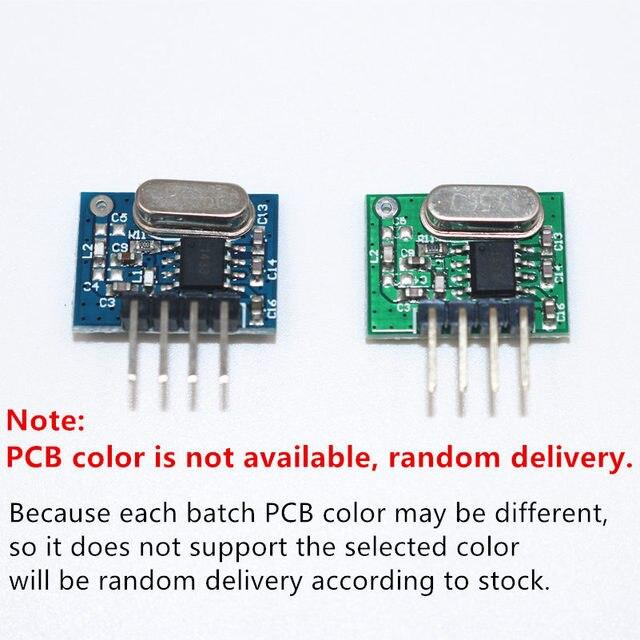 1 ensemble RF module 433 Mhz superhétérodyne récepteur et transmetteur kit avec antenne pour Arduino uno bricolage kits 433 mhz télécommande 3