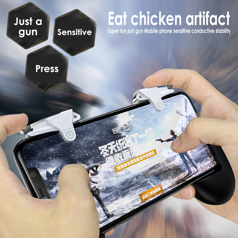 Gentle 1pair L1 R1 Phone Gaming Trigger For Iphone Mobile Controller Gamepad Fire Button Handle For Pubg/rules Of Survival/knives Out Bright And Translucent In Appearance