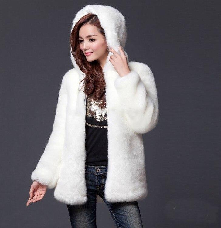 En Long Lisa Chaud Blanc noir Manteaux Outwear Veste Femmes Fourrure Colly Avec D'hiver Noir Manteau Fausse Blanc 2017 Capuche qq8rFAxwt
