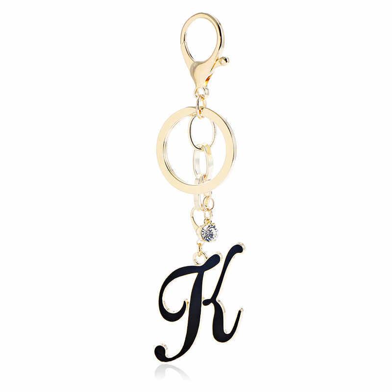 Komi porta-chaves do gato das mulheres letras coloful escudo charme chaveiro saco pingente liga de ouro cor chaveiro para presentes k2073