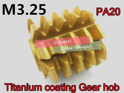 M3 25 modulus 75 65 27mm Inner hole PA 20 degrees HSS Titanium coating Gear hob