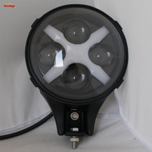 6 Inch 60W With Amber Protective Cover LED Tuning Light For Offroad SUV ATV 4*4 Truck Boat 12V 24V