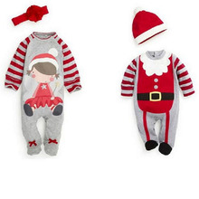 New Born Baby Boy Clothes Two Piece Baby Boys Rompers+Hats Spring Babies Costume Cartoon Roupas Infantil Chiristmas Baby Clothes