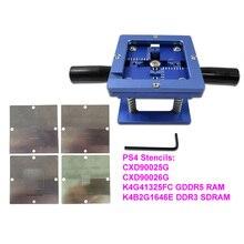 4 Stks/set 90Mm * 90Mm PS4 Stencils CXD90025G CXD90026G K4G41325FC GDDR5 Ram K4B2G1646E DDR3 Sdram 90Mm Bga reballing Station