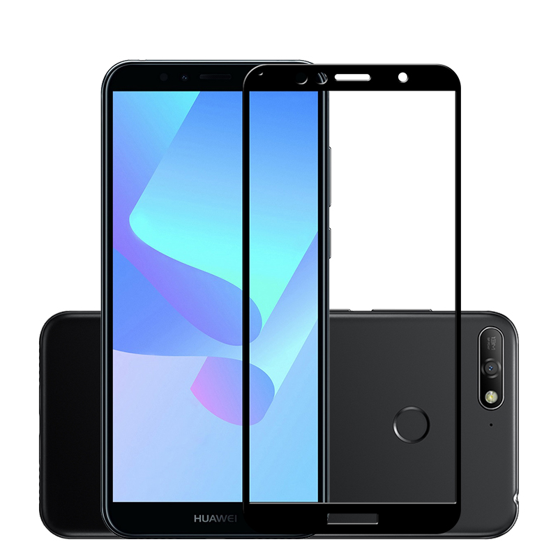 2 Pcs Full Glass For Huawei Y6 Prime 2018 Honor 7A Pro Honor 7C Russian ATU-AL10 Screen Protector Protective Film 5.7 inch
