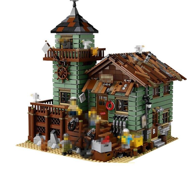Bloc Créateur L'ancienne Finition Magasin 2109 pièces Briques Blocs De Construction Jouets Pour Enfants Compatible Legoing Créateurs Enfants Cadeaux
