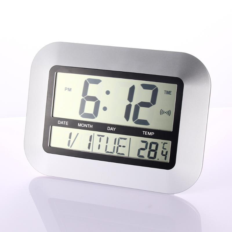 09e22f38058 Multifunções LCD Relógio de Parede Digital de Mesa Desktop Despertador com  Snooze Calendário Termômetro Temperatura Umidade
