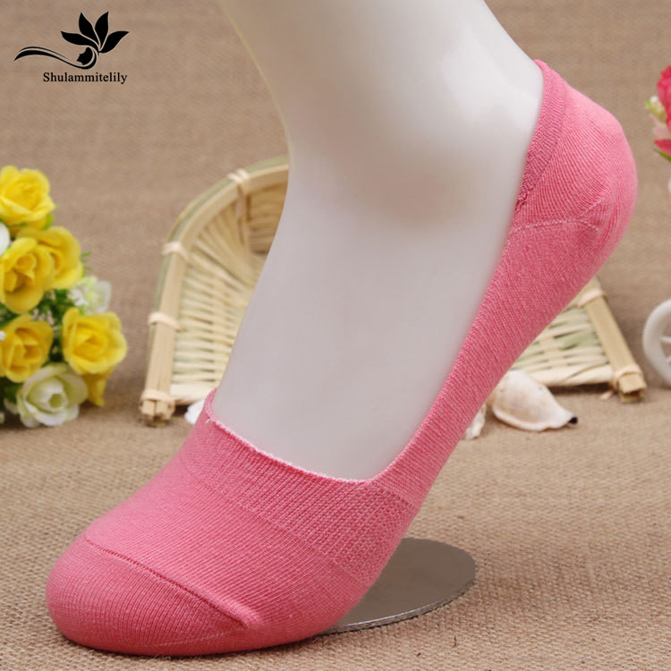 10pcs=5 pairs/lot women invisible   socks   Bamboo Fiber cotton Anti-Slip female ankle   socks   Summer invisible boat   socks   anti slip