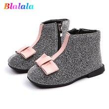 c882c08afff4e2 Automne hiver chaud mince velours paillettes arc bébé filles bottines  enfants mode bottes pour enfants designer chaussures desig.