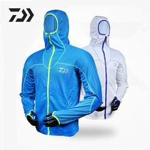 DAIWA Long Sleeve Summer Fishing Clothes Quick Dry Anti-UV Breathable Moisture Wicking Clothing