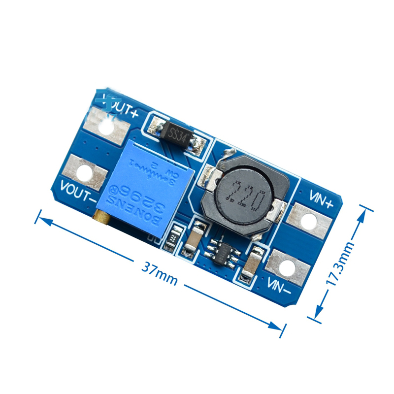 MT3608 2A DC-DC Step Up Converter Booster Netzteil Modul Boost-Step-up Board MAX ausgang 28 V 2A für arduino