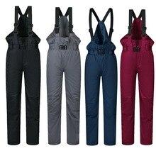 Лыжные штаны для детей, брендовые для мальчиков и девочек, новинка 2018 года, спортивные ветрозащитные непромокаемые теплые зимние детские брюки для сноуборда