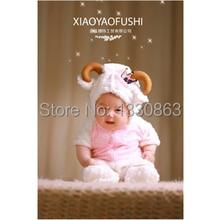 Soft New newborn Baby Costume Photography Prop little Goat Infant Girl and Boy Knit Crochet DEG Free shipping