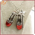 Foreign trade hit Alice in wonderland magic wand sautoir necklace red shoes