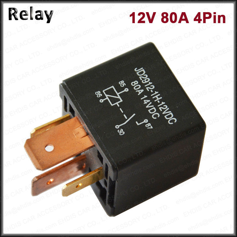 Kh 12v 24v Dc 80a 4 Pin Car Relay Automotive On  Off