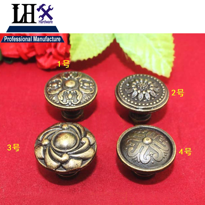 LHX Christmas Supplier 4pcs Flower Jewerly Box Finger Handle Tab 4Size for Drawer Cabinet Knob Decorative DIY Furniture i