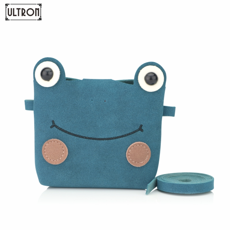 ULTRON Fashion Children Princess Small Cute  Messenger Bag Girl Animal Pattern Mini PU Women Shoulder Bags Frog Baby