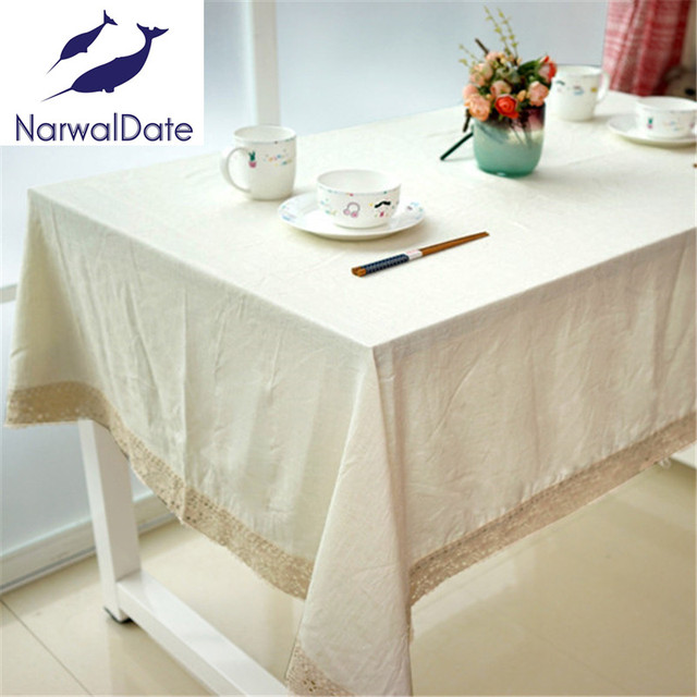 Fashion Solid Color Linen Tablecloth Tablecloths Universal Dust Cover  Coffee Table Towel Tablecloth Picnic Mat Hotsale