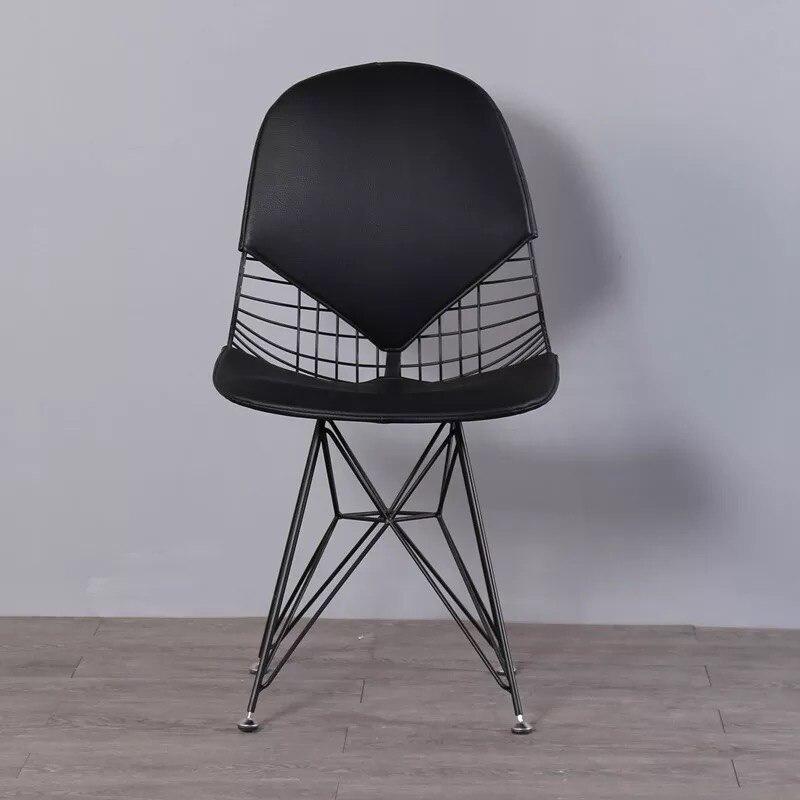 Free shipping U-BEST Wire Mesh Metal Iron Dining Chair Gold Wire Metal Dining chair