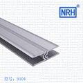 NRH-9104 para cima e para baixo material de alumínio 3 metros De ar de Alumínio caixa feminino Masculino o canal para Cima e para baixo slot convexo Côncavo sulco