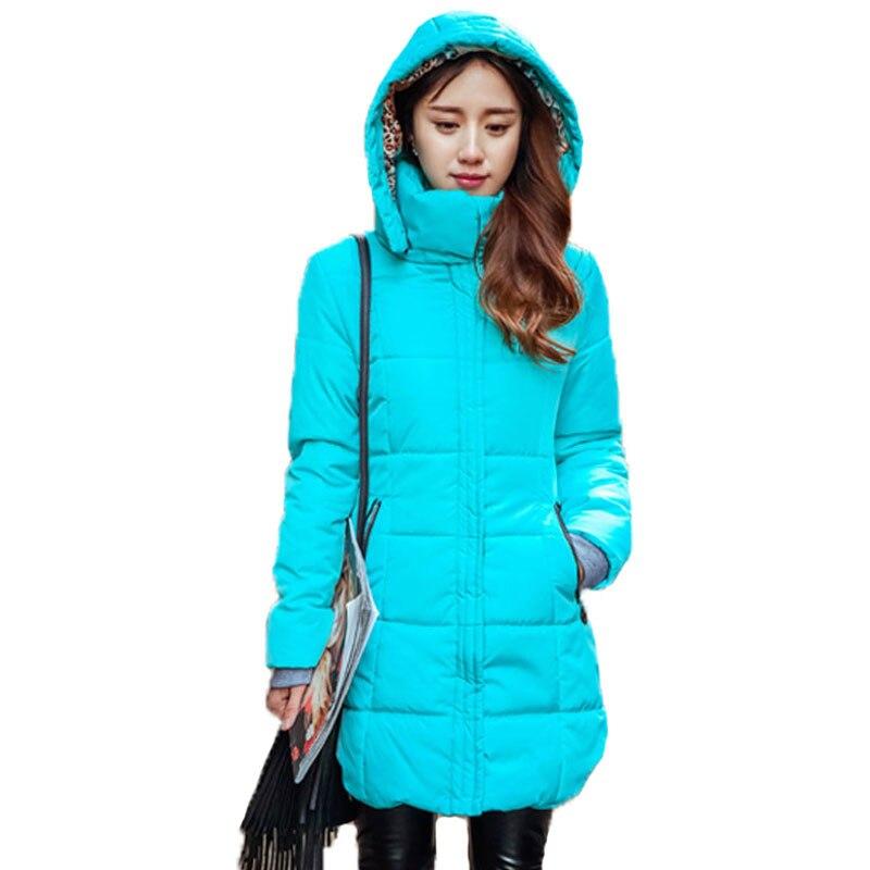 Winter Large Size Warm Hooded Slim Parka Cotton Jacket ...