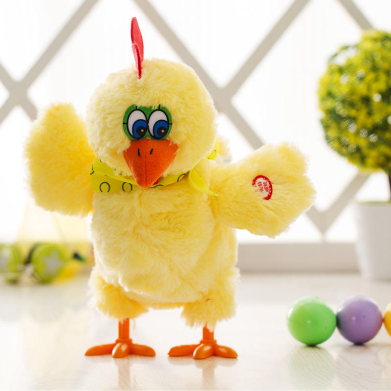 Funny Doll Raw Chicken Hens will lay eggs of chickens crazy singing&dancing electric pet plush Children toys image